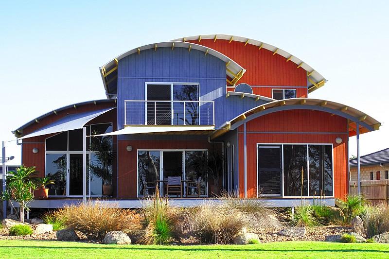 Hervey Bay Design Group Curved Roof Highset Pt Vernon