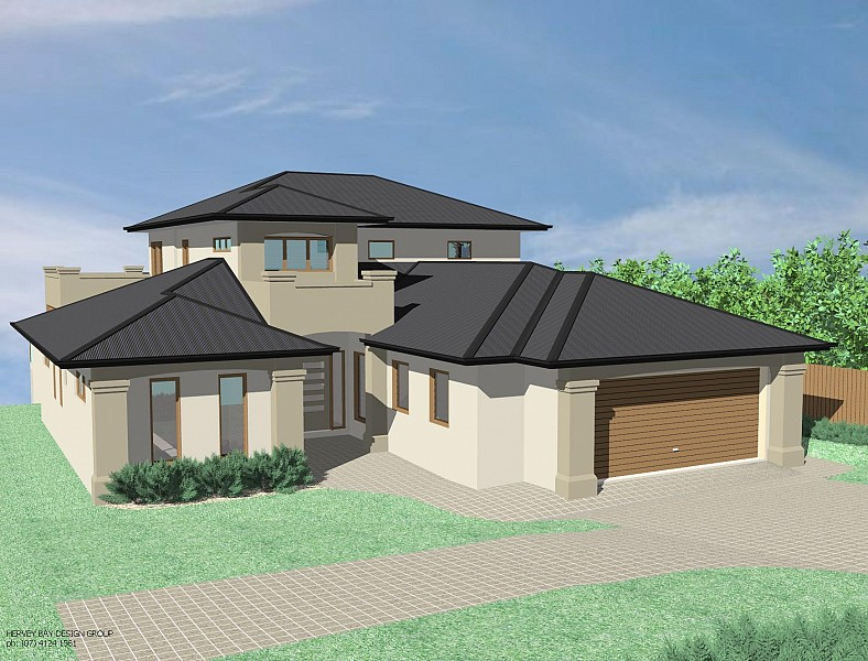 flat roof villa exterior in 2400 sq feet house design plans design